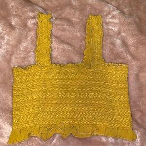 yellow kendall & kylie croptop
